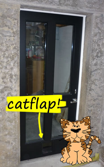 Cat Flap Kitchen Door